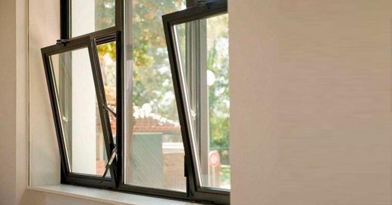 відкидні алюмінієві вікна